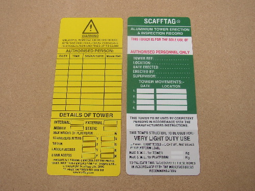 Scafftag Tower Inserts 2000 Test Equipment Suppliers